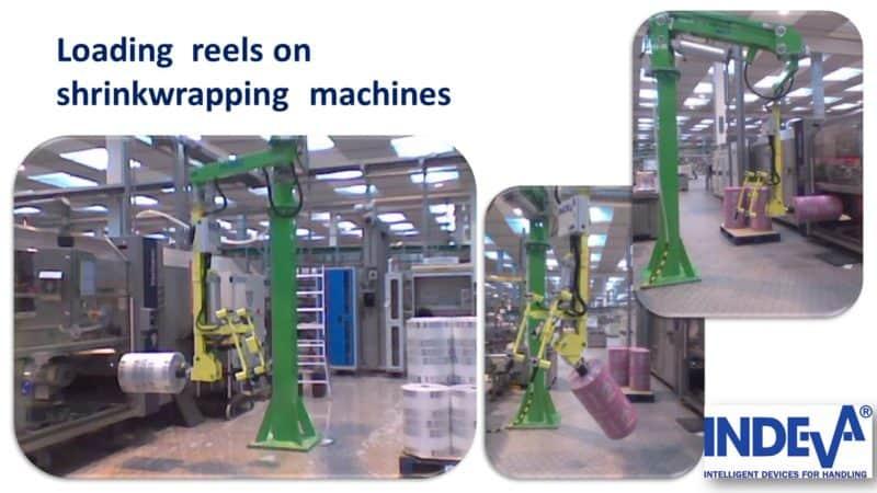 Nakládejte fóliové nebo papírové navijáky na balicích strojích