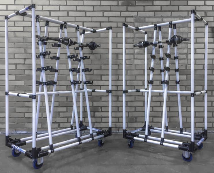 Nosné vozíky obrobků