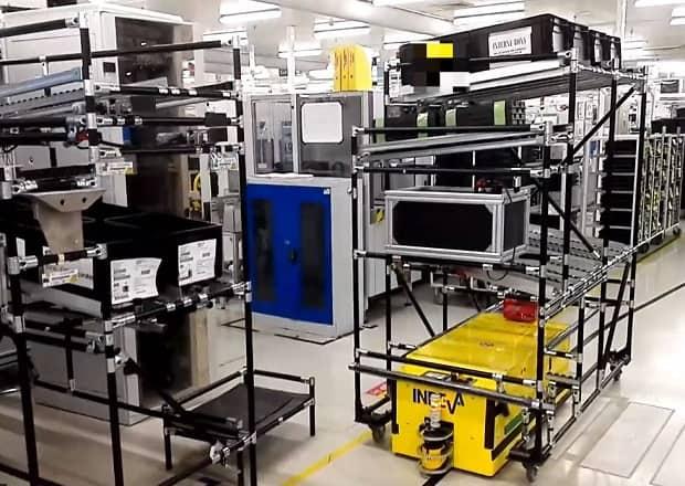 Tunnel AGV v automobilovém průmyslu