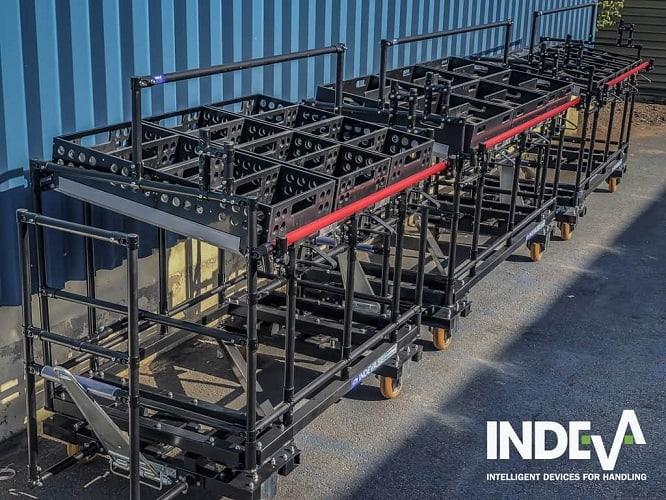 Díky přesné 3D simulaci našich modulárních vozíků kitting můžeme nabídnout širokou škálu stojanů a řešení šitých na míru pro skladování
