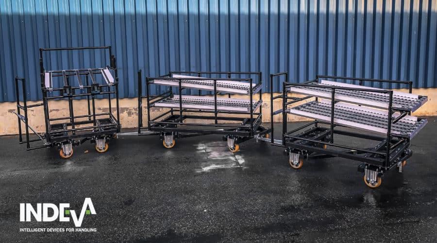 Naše modulární tažné vozíky jsou lehké, snadné a bezpečné pro manévrování.