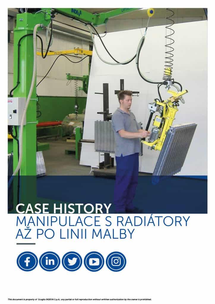 Případové studie INDEVA: pohybující se radiátory na lakovně v celkové ergonomii a bezpečnosti, zvyšující produktivitu.