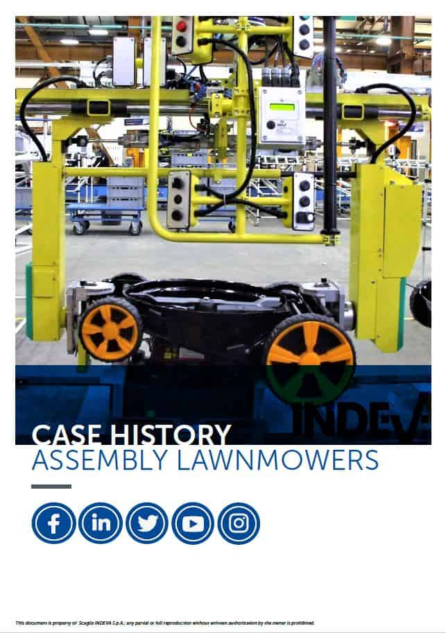 assembly lawnmowers with INDEVA Liftronic