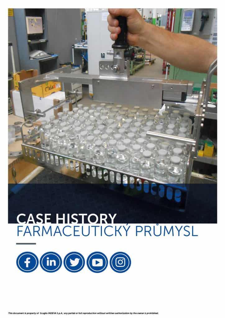 Případové studie INDEVA: manipulace s předměty ve farmaceutickém průmyslu v celkové ergonomii a bezpečnosti, zvýšení produktivity.