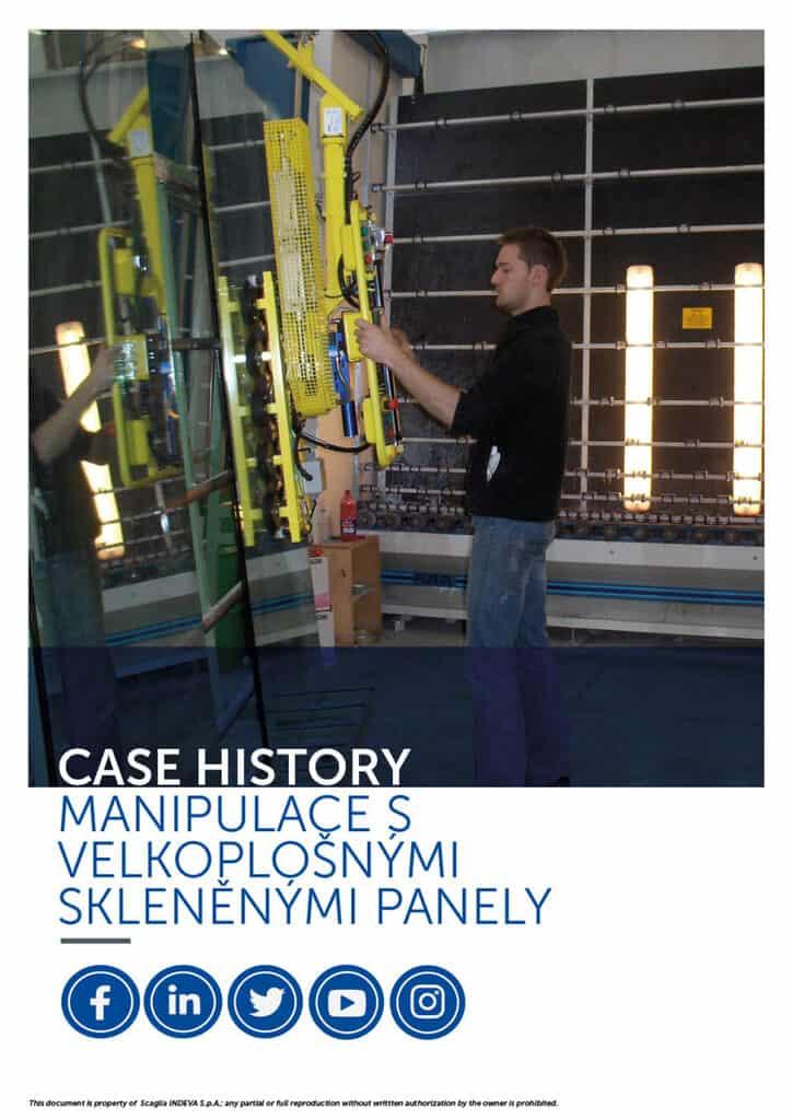 Úspechy Indeva: manipulácia s veľkými sklenenými panelmi, zvýšenie ergonómie a bezpečnosti v rámci spoločnosti
