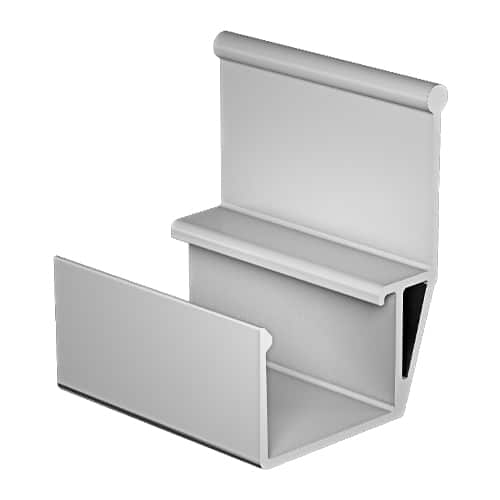 Lateral side guide white