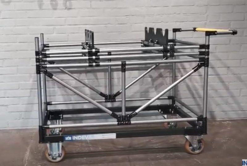 Nastavitelná sada vozíku pro vačkové hřídele