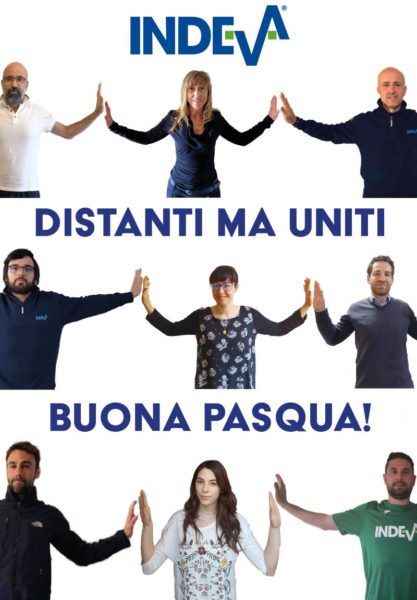 EASTER 2020-Scaglia Indeva people are united to work together even if at distance